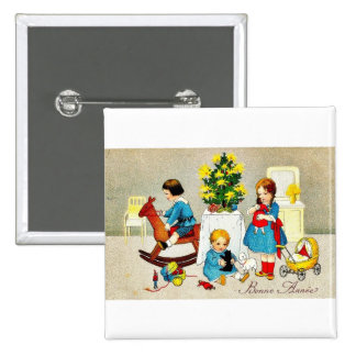 Vintage Christmas Pinback Buttons
