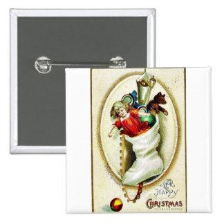 Vintage Christmas Pinback Button