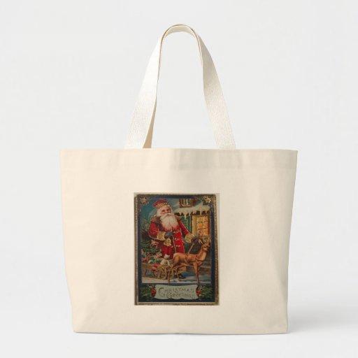 Vintage Christmas Canvas Bags
