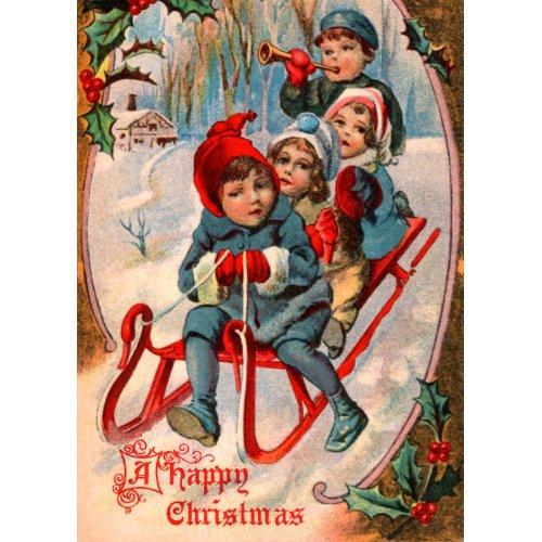 Vintage Christmas Card card