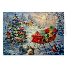 Vintage Christmas Card at Zazzle