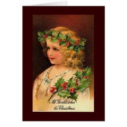 Vintage, Christmas Card