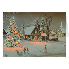 Vintage Christmas Card at Zazzle