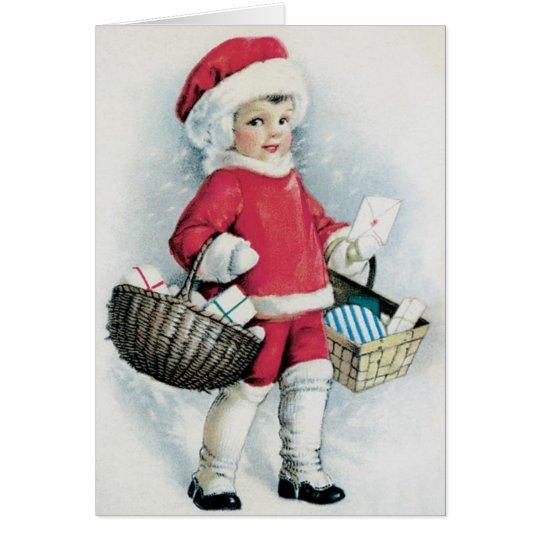 Vintage Christmas Card  - Adorable card for Kids