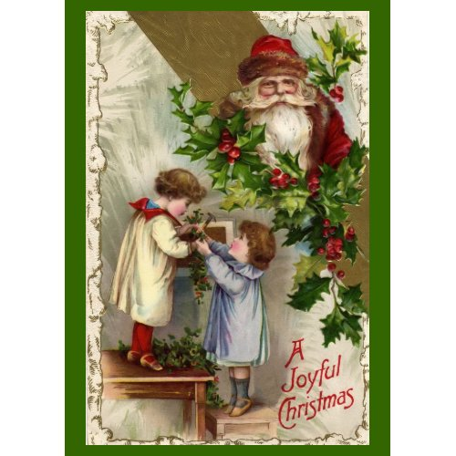 Vintage Christmas Card Card card
