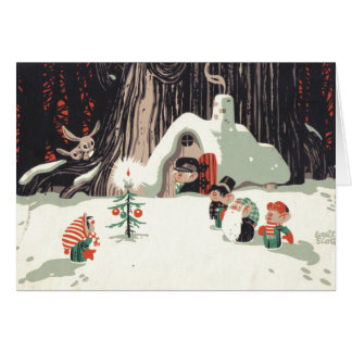 Vintage Christmas Card Design