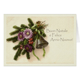 Vintage Christmas Card in Italian