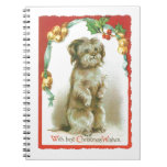 Vintage Christmas Card Journal Notebook