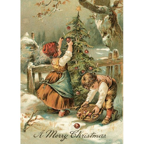 Vintage Christmas Card - Very sweet card card