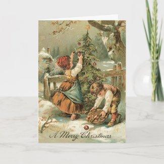Vintage Christmas Card - Very sweet card