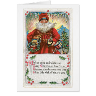 Vintage Christmas Card - Wishes Come and Wishes Go