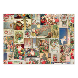 Vintage Christmas Cards Holiday Pattern Business Card Template