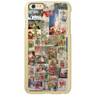 Vintage Christmas Cards Holiday Pattern Incipio Feather Shine iPhone 6 Plus Case