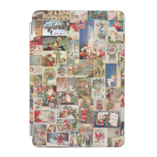 Vintage Christmas Cards Holiday Pattern iPad Mini Cover