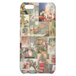 Vintage Christmas Cards Holiday Pattern Cover For iPhone 5C