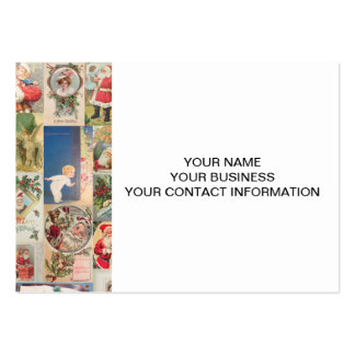Vintage Christmas Cards Holiday Pattern Large Business Cards (Pack Of 100)