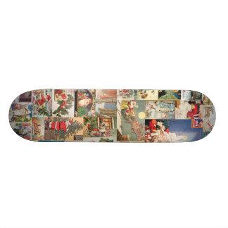 Vintage Christmas Cards Holiday Pattern Skate Boards