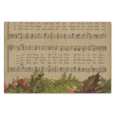 Christmas Themed Vintage Christmas Carol Music Sheet