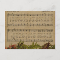 Vintage Christmas Carol Music Sheet