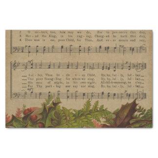 Vintage Christmas Carol Music Sheet Tissue Paper