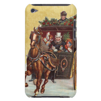 Vintage Christmas Carriage Ride iPod Touch Case-Mate Case