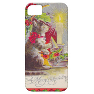 Vintage Christmas, Cat among decorations iPhone SE/5/5s Case