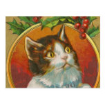 Vintage Christmas Cat Post Cards