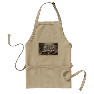 Vintage Christmas, Central Park in Winter Apron