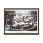 Vintage Christmas, Central Park in Winter Canvas Prints
