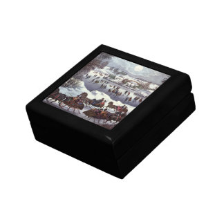 Vintage Christmas, Central Park in Winter Jewelry Box
