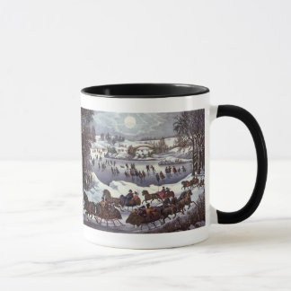 Vintage Christmas, Central Park in Winter Mug