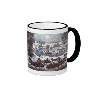 Vintage Christmas Central Park in Winter Coffee Mug