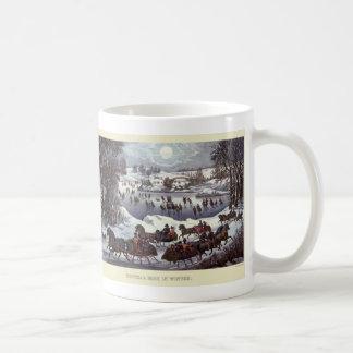Vintage Christmas Central Park in Winter Mug