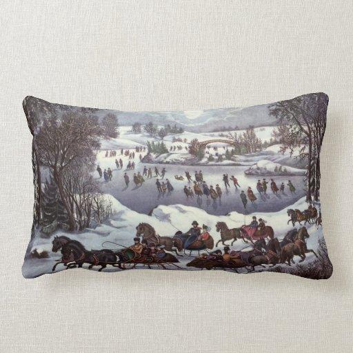 Vintage Christmas, Центральный парк в зимние Подушки