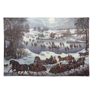 Vintage Christmas, Central Park in Winter Placemat