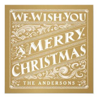 VINTAGE CHRISTMAS CHALKBOARD PHOTO CARD CUSTOM INVITATION