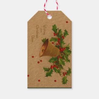 Vintage Christmas Cheer Gift Tags, Holidays Gift Tags