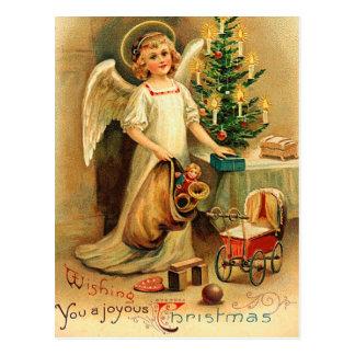 Vintage Christmas Cherub Postcard