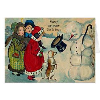 vintage christmas children card