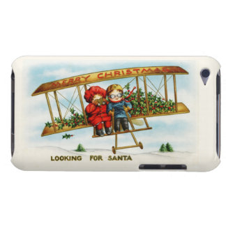 Vintage Christmas Children Looking For Santa Barely There iPod Cover