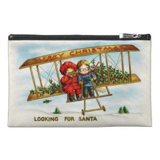 Vintage Christmas Children Looking For Santa Travel Accessory Bag
