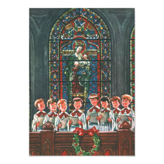 Vintage Christmas Children Sing Choir Invitation