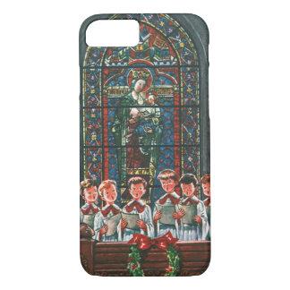 Vintage Christmas Children Singing Choir in Church iPhone 8/7 Case