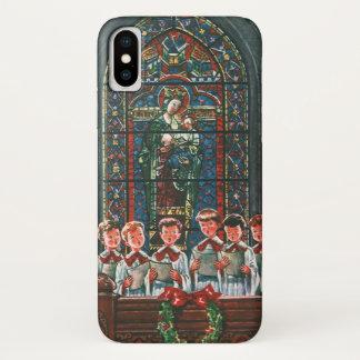 Vintage Christmas Children Singing Choir in Church iPhone X Case