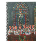 Vintage Christmas Children Singing Choir in Church Note Book
