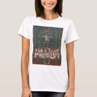 Vintage Christmas Children Singing Choir in Church T-Shirt