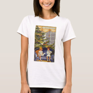 Vintage Christmas, Children Sitting on a Couch T-Shirt