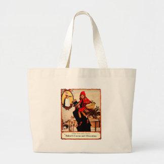 Vintage Christmas Chocolate Celebration Canvas Bags