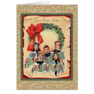 Vintage Christmas Choir Card