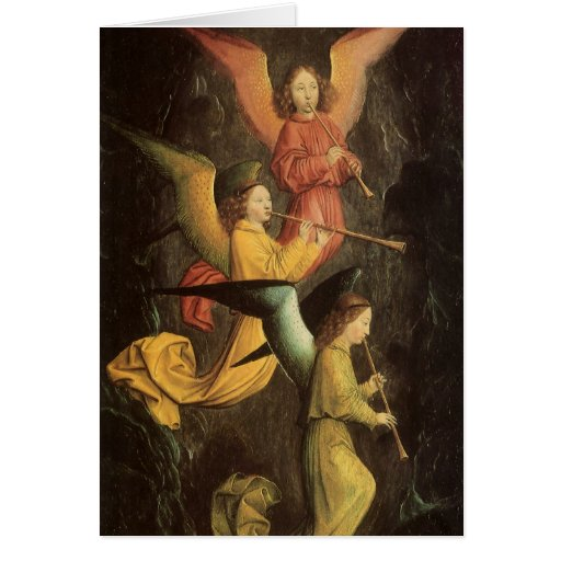 Vintage Christmas, Choir of Angels by Marmion Greeting Card
